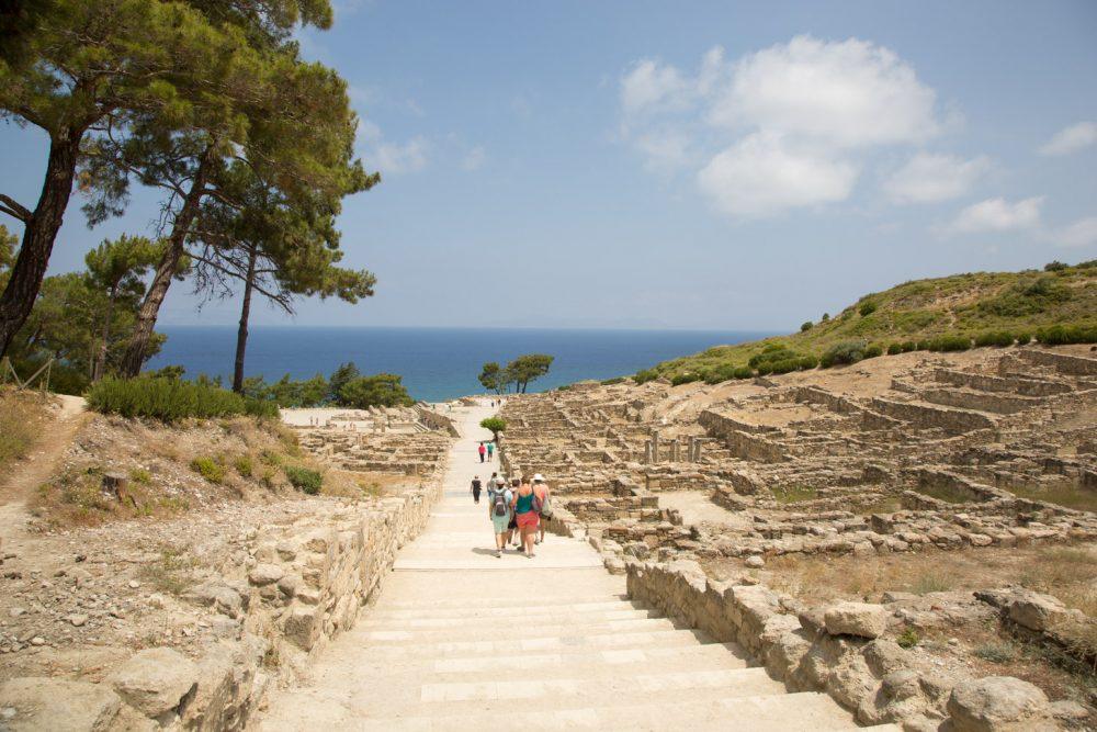 De antieke stad Kamiros op Rhodos