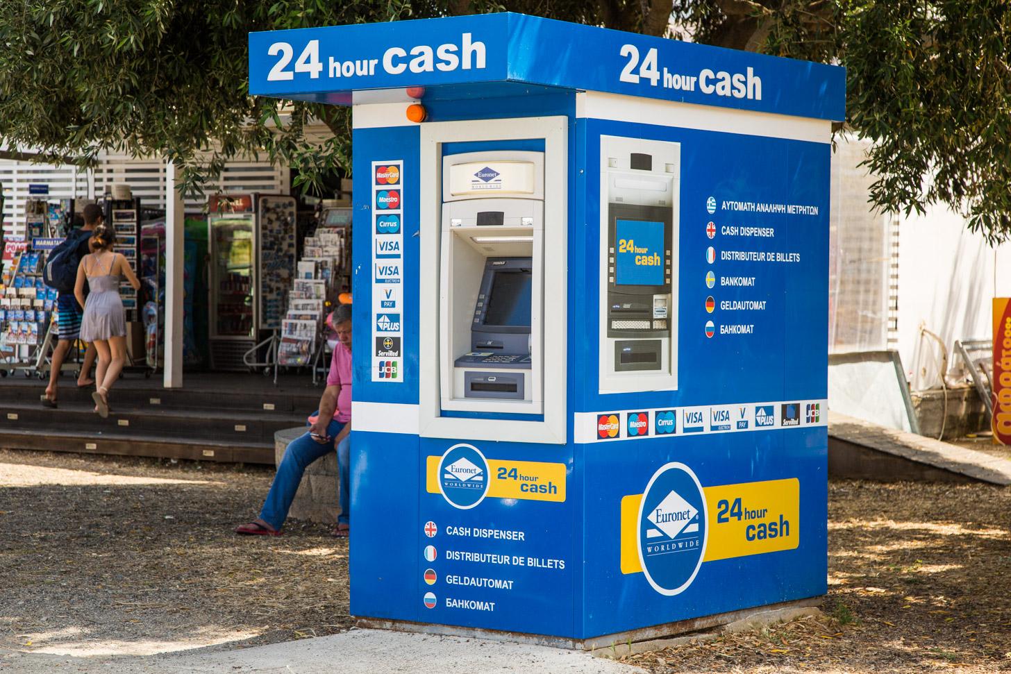 Geldautomaat op Rhodos