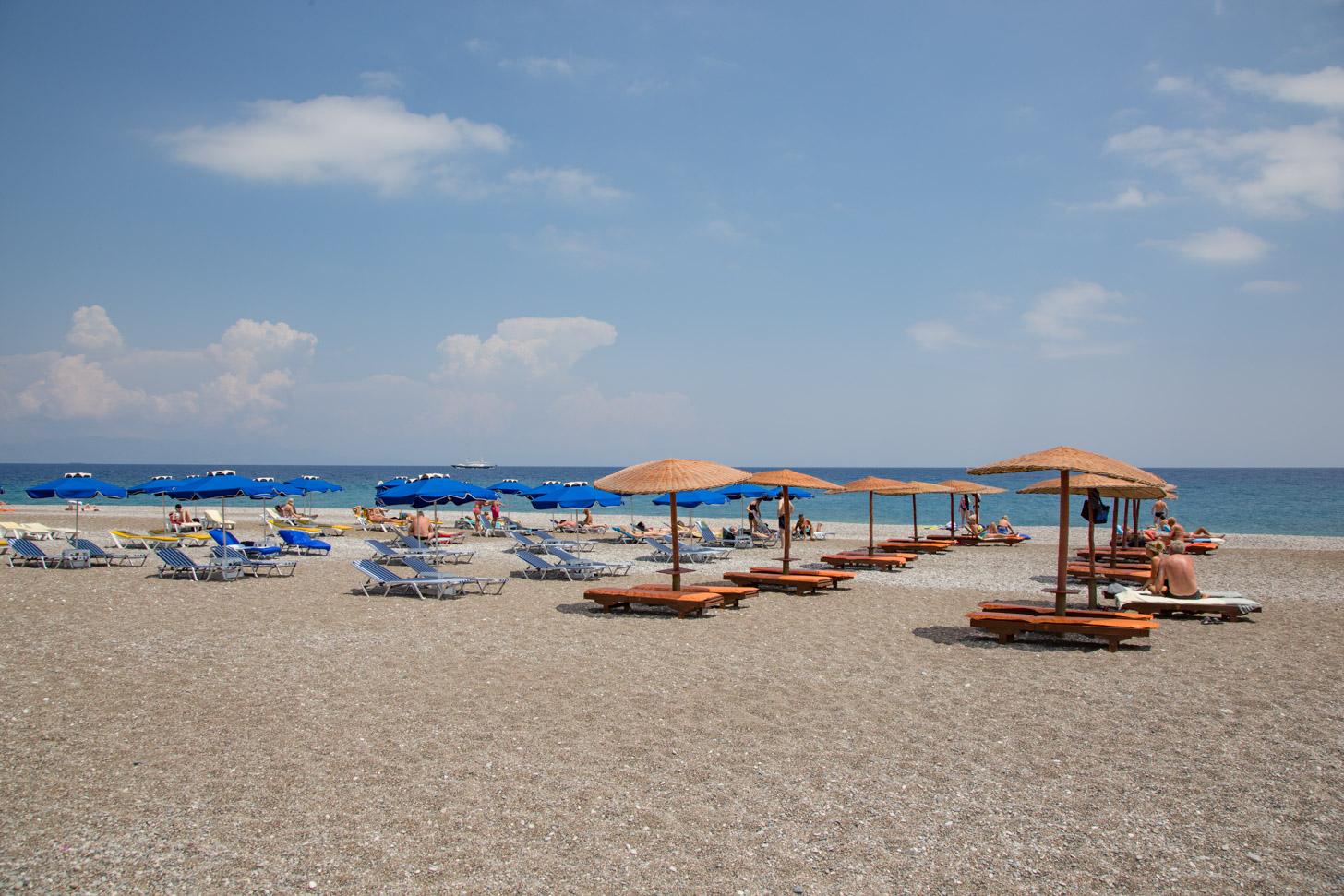 De stranden van Rhodos Stad