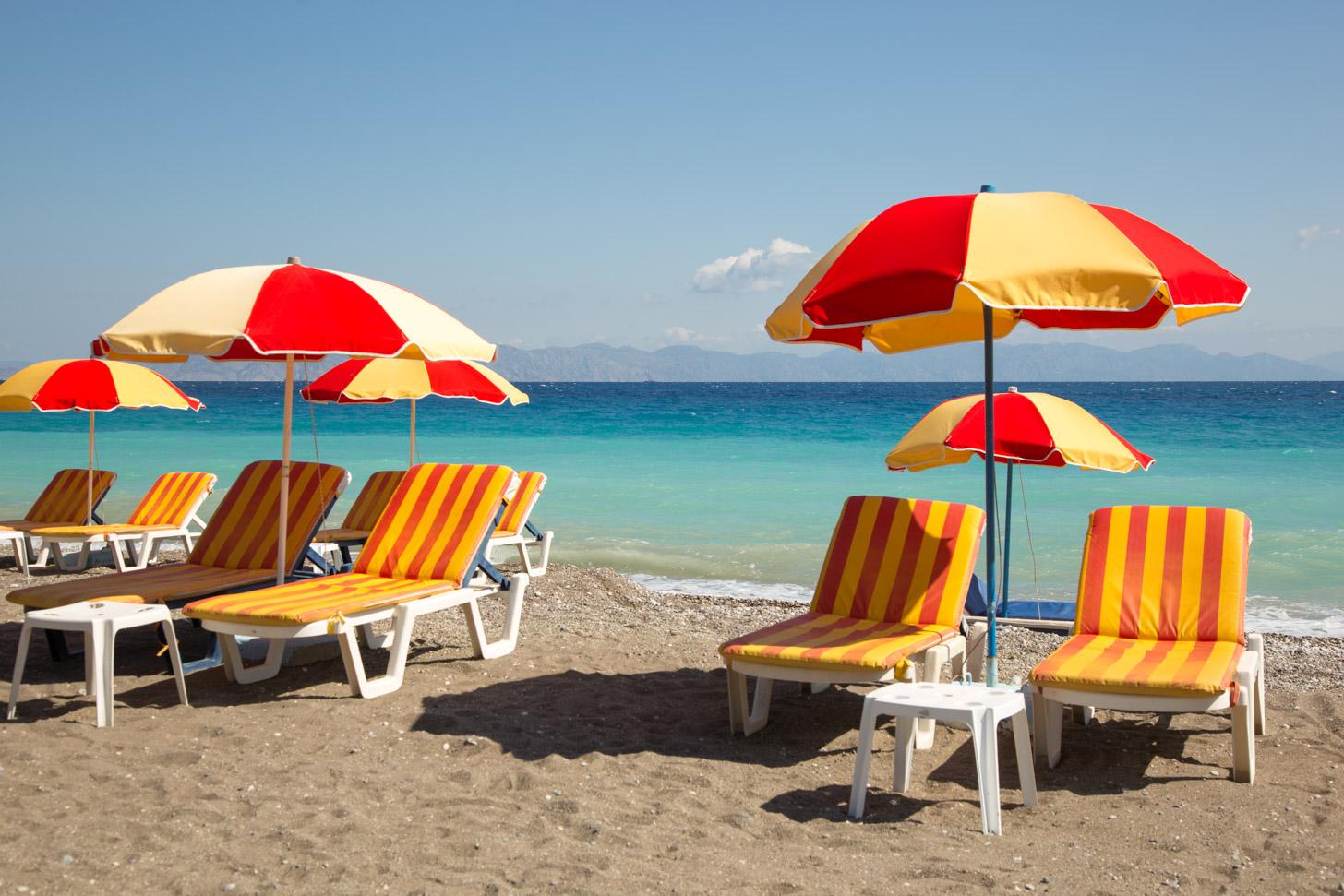 Het strand van Ialyssós