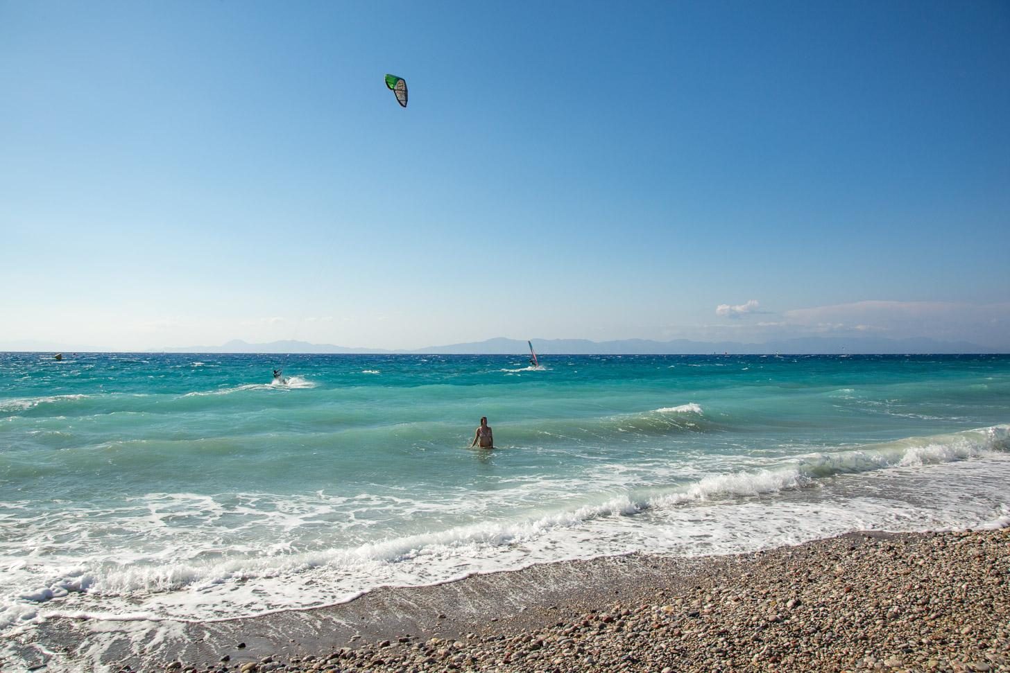 Het strand van Ixia